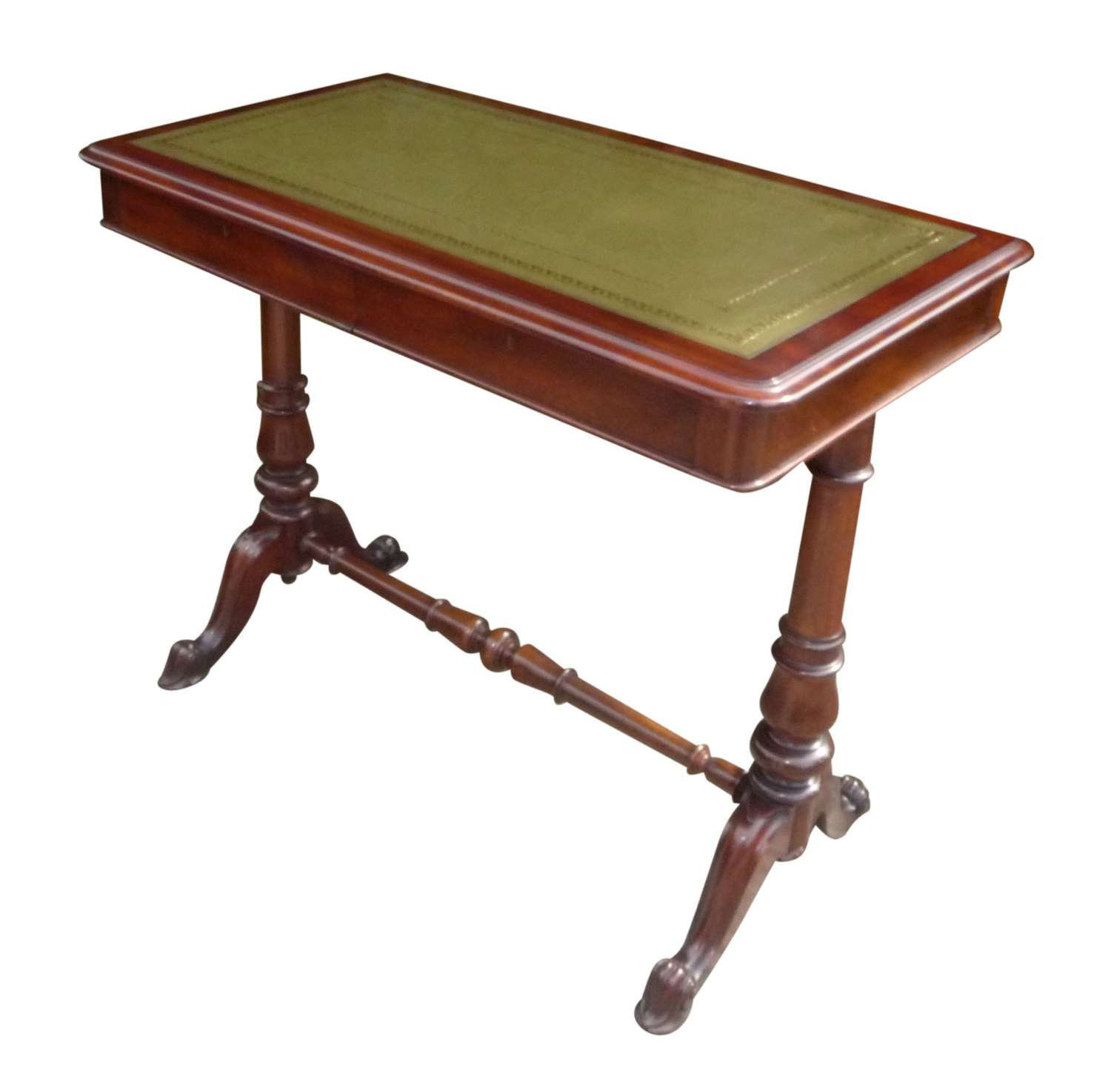 A quality 19th century mahogany ladies desk stamped Johnstone & Jeanes