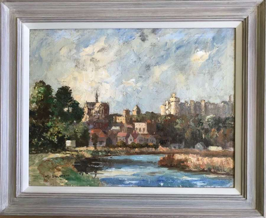 'Arundel from the river Arun' oil painting by Will Longstaff  c 1930