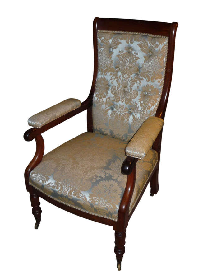 A 19th century rosewood library chair circa 1835